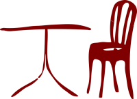 Table Chair Marron  Free vector graphic on Pixabay