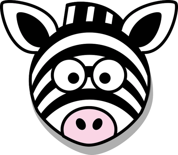 zebra head stupid free vector