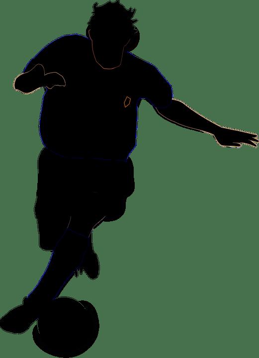Vector gratis Ftbol Jugador Silueta Jugar  Imagen