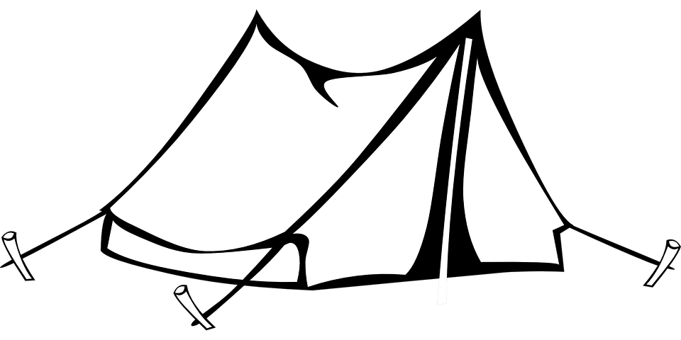 Camping Tent Drawing · Free vector graphic on Pixabay