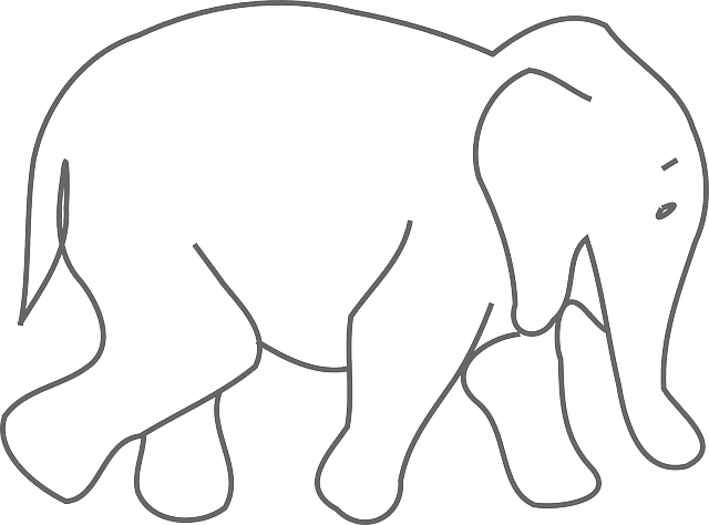 Elephant Walk Outlines · Free vector graphic on Pixabay