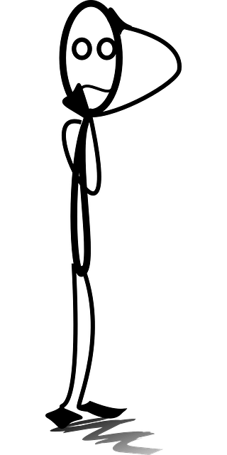 Free vector graphic: Stickman, Thinking, Worry, Confused