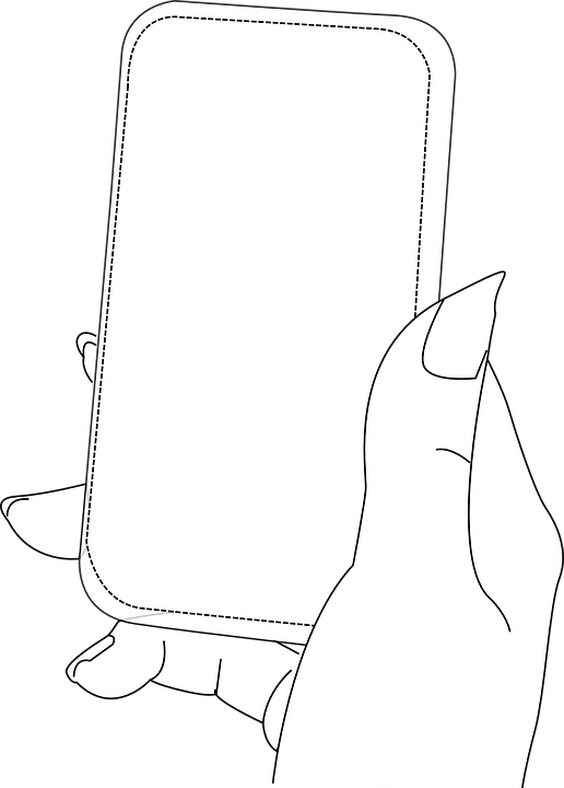 Smart Phone Hand Female · Free vector graphic on Pixabay