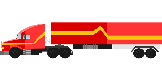 Free vector graphic Truck Red 18Wheeler Vehicle