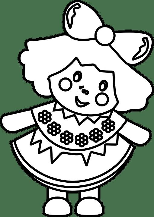 Poupée Jeune Fille Jouets · Images vectorielles gratuites