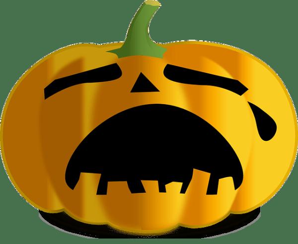 pumpkin jack lantern sad free