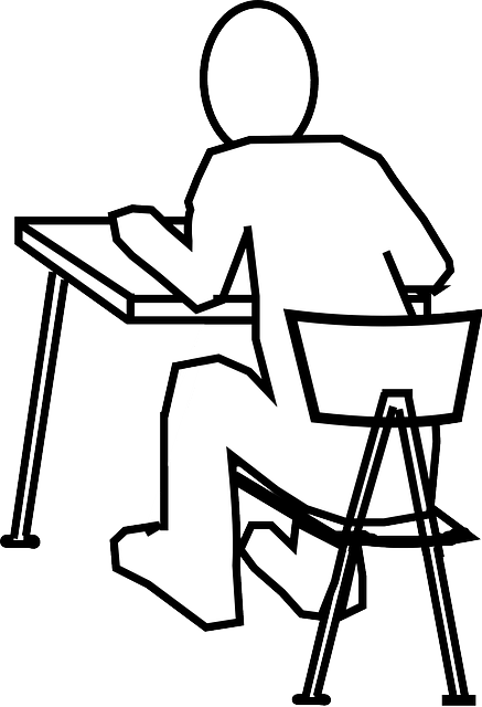 Free vector graphic: Desk, Chair, Man, Reading, Studying