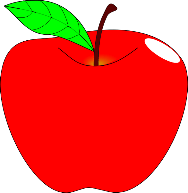 apple red ripe free vector graphic