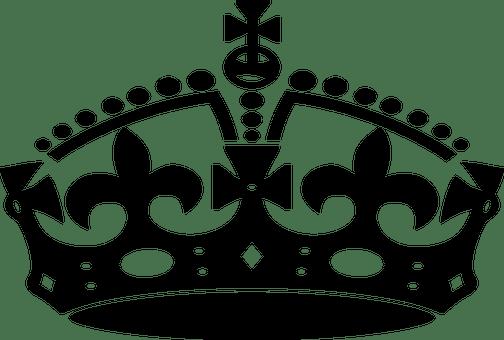 Queen Crown Black N White