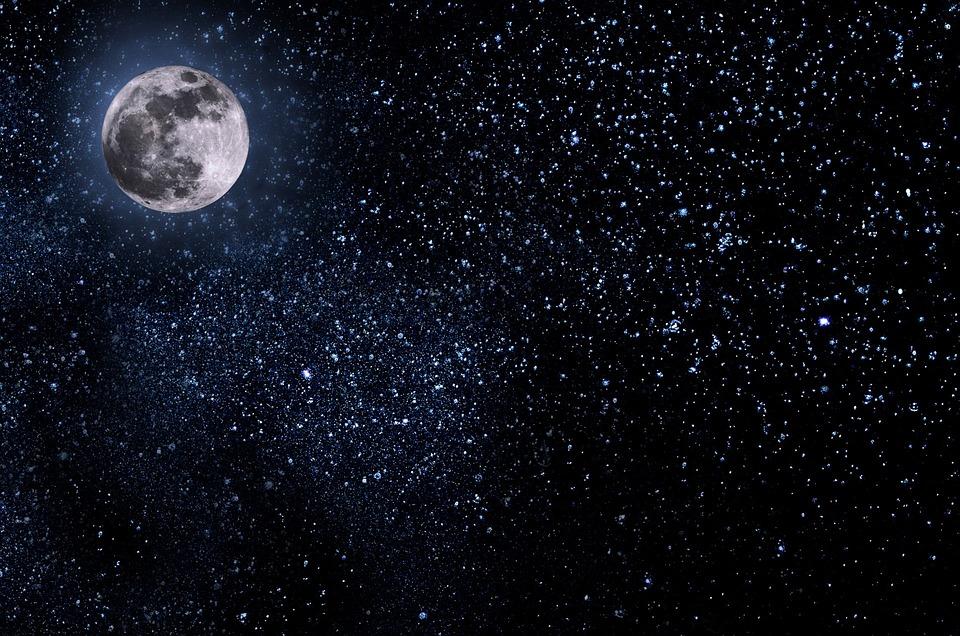 night sky moon free