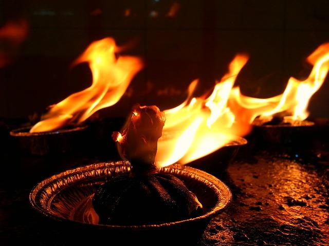Gif Images Animated Wallpapers Free Photo Diya Deepam Oil Lamp Flame Free Image On