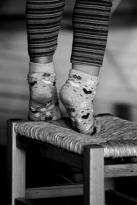 Free photo Feet Socks Stool Little Girl  Free Image