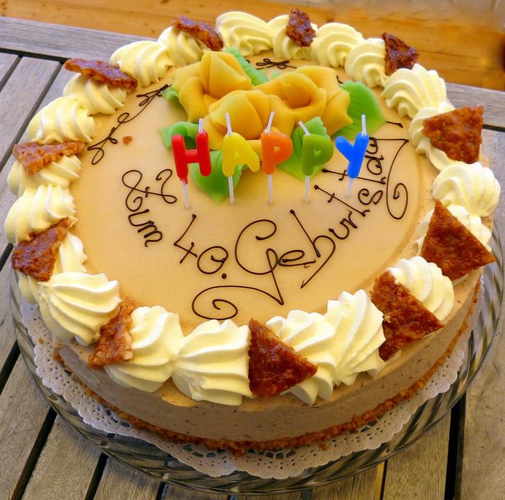 Kostenloses Foto Torte Geburtstagstorte Marzipan