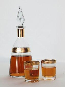Servicio, Botella, Alcohol, Gafas