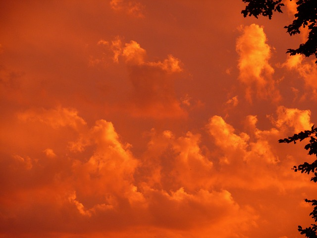 Hd Technology Wallpapers 1080p Free Photo Sunset Red Sky Clouds Orange Free Image