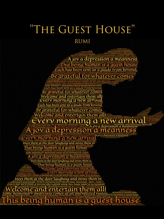 Quotes Wallpaper Free Download Free Illustration Rumi The Guest House Gratitude Free