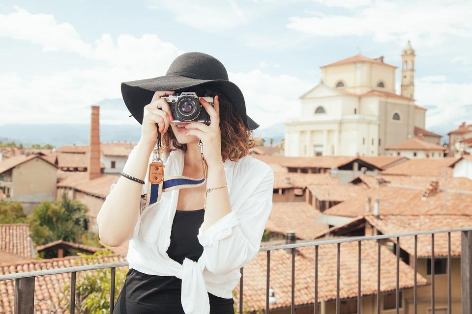 カメラマン, 観光, スナップショット, 写真を撮る, カメラ, フォト, 写真, 旅行, 人, 女の子