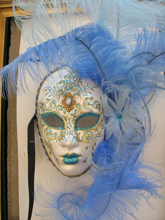 Boy And Girl With Rose Wallpaper Free Photo Mask Masquerade Carnival Venice Free