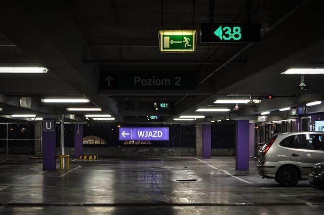 Free photo Underground Parking Sign Trip  Free Image