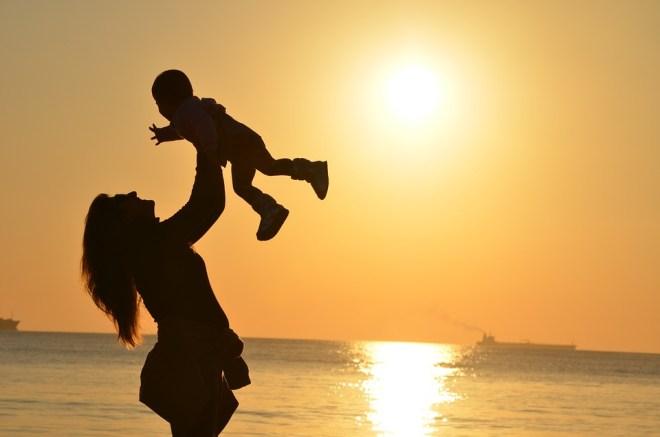 Mẹ, Con Gái, Tình Yêu, Hoàng Hôn, Tháng, Đại Dương