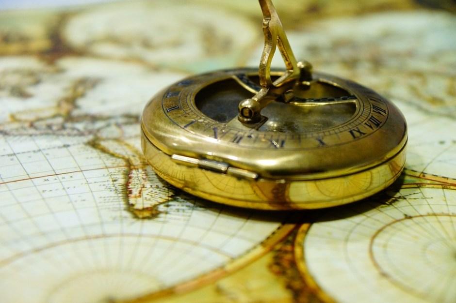 Brújula, Antigüedad, Mapa Del Mundo, De Navegación