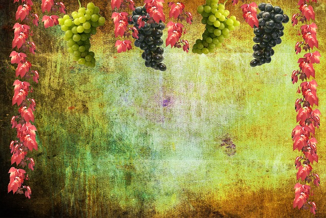 Autumn Falling Leaves Wallpaper Free Photo Grapes Wine Autumn Background Free Image