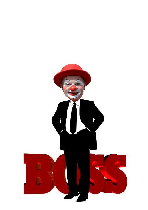 Free illustration Boss Man Clown Caricature  Free