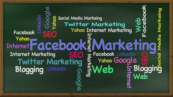 Facebook, Social Media, Marketing sign- social media