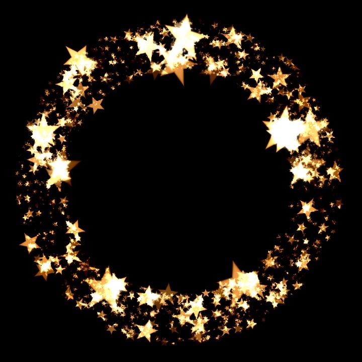 Free Illustration Christmas Time Star Ball Ring Free