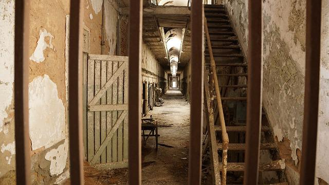 Free photo Prison Ruin Bars Stairs Rust  Free Image