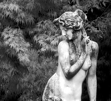 concrete woman garden ornaments