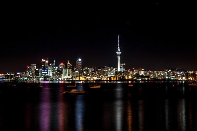 Night, Auckland, New Zealand, City, Black City
