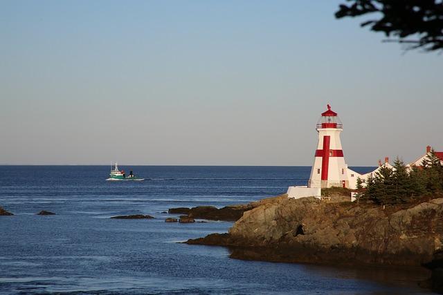 Foto gratis Mercusuar Kanada Malam Laut Air  Gambar