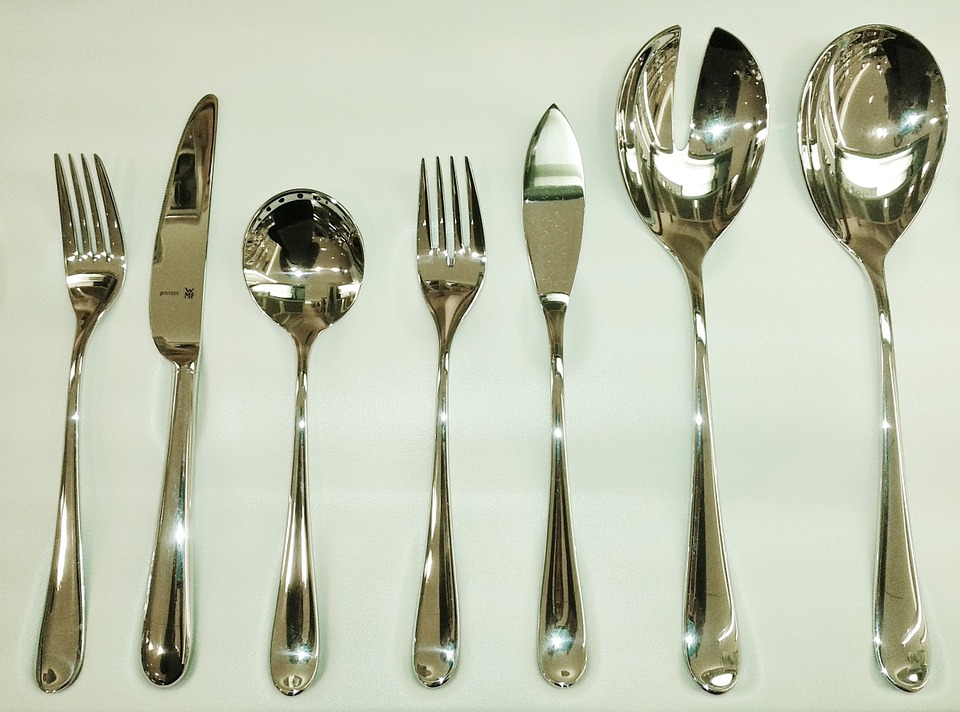 all wood kitchen table aqua utensils free photo: cutlery, knife, fork, spoon, eat - image ...