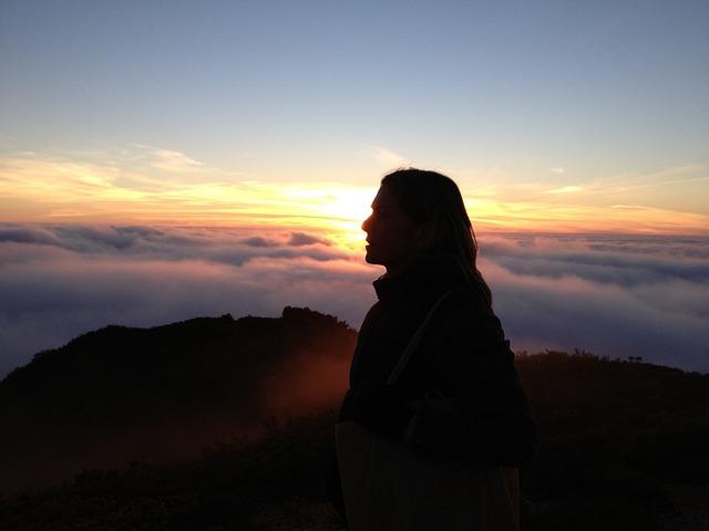 Girl Wallpapers Computer Pintrest Free Photo Profile Woman Yellow Sunset Fog Free