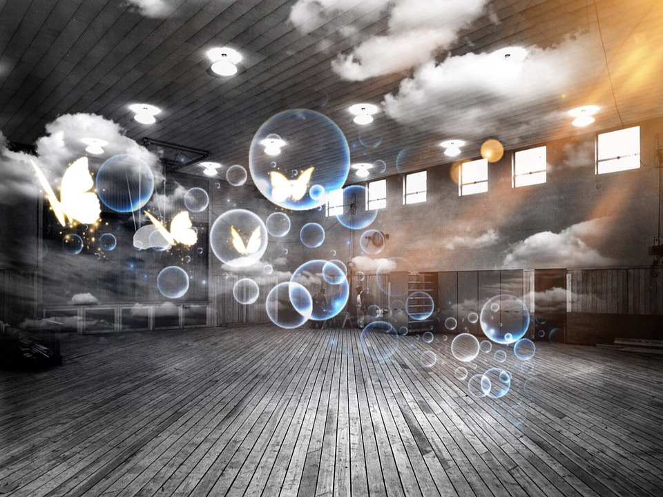Sports Hall Soap Bubbles Surreal  Free photo on Pixabay