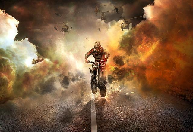 Free photo Off Road Buggy Motorcycle Jump  Free Image