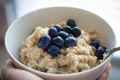 Blueberries, Oats, Oatmeal, Health