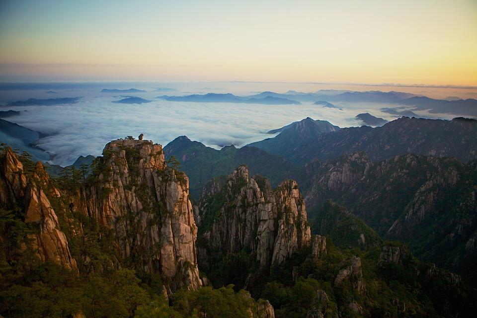 Yellow Mountains, China, Yellow, Mountain, Asia