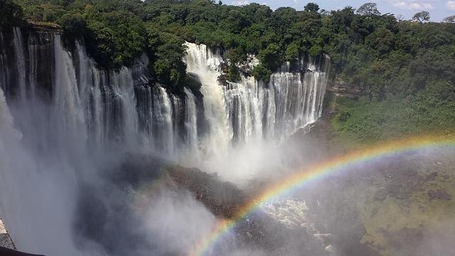 Iguazu Falls Brazil Wallpaper Free Photo Cataracts Angola Rainbow Nature Free
