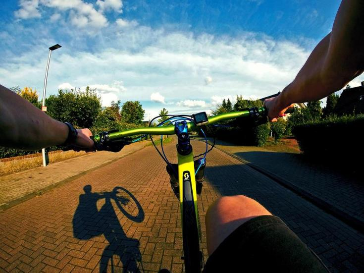 Bicycle with a GoPro