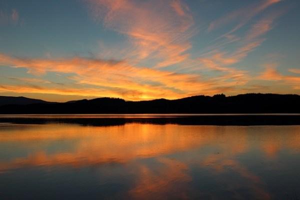 free dusk sunset landscape