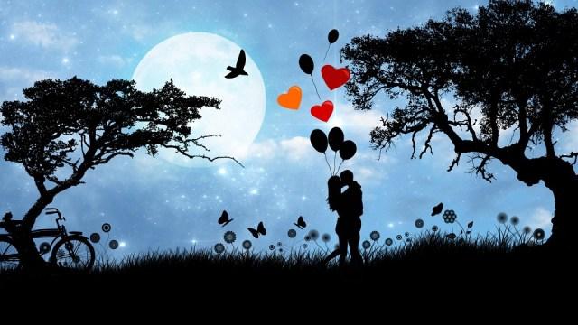 Love, Couple, Romance, Valentine, Valentine'S Day, Moon