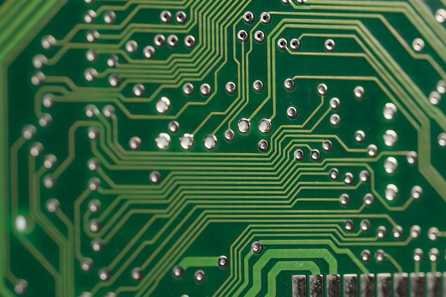 Circuit Board Heart Electronic Background With Processor Vector