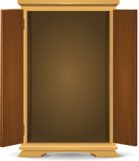 Open Wardrobe Cartoon
