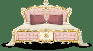 bed bedroom luxury vector