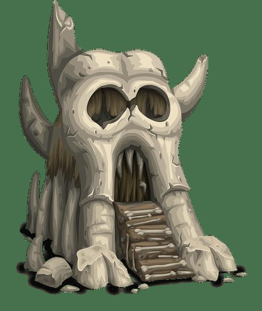 Free vector graphic Skull Greyskull Castle Gatehouse