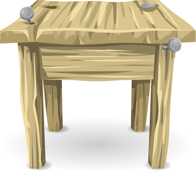 Table Desk Wood · Free vector graphic on Pixabay