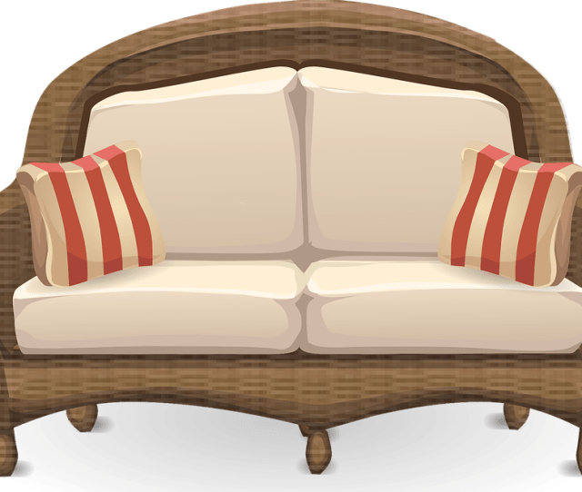 Couch Loveseat Sofa Furniture Wicker Living Room  C B Public Domain