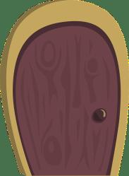 door oval cartoon purple entrance enter vector entry doorway lawyer